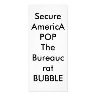 Asegure América POP la BURBUJA del burócrata Lona Publicitaria