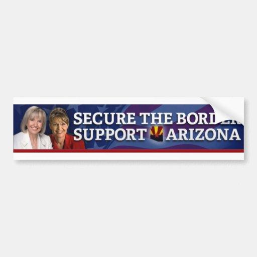 Asegure la ayuda Arizona de la frontera Pegatina Para Auto