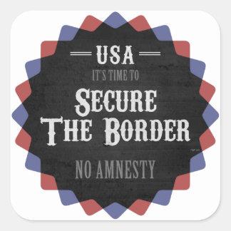 Asegure la frontera pegatina cuadrada