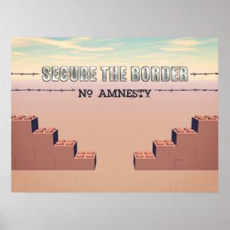 Asegure la frontera póster