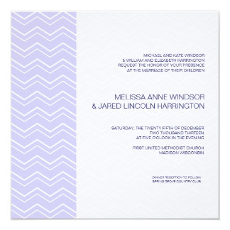 """Asequible púrpura de Chevron de la lavanda Invitación 5.25"""" X 5.25"""""""