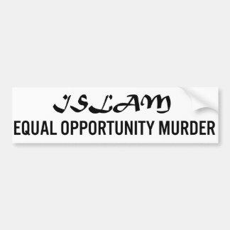 Asesinato de la igualdad de oportunidades del Isla Pegatina De Parachoque