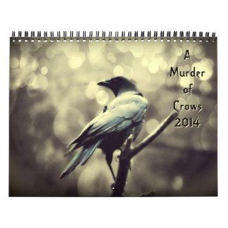 Asesinato de los cuervos 2014 calendario de pared