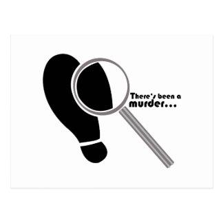 Asesinato detective postales