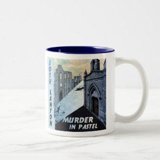 Asesinato en taza en colores pastel