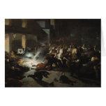 Asesinato frustrado del emperador Napoleon Tarjetón