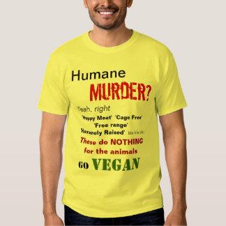 ¿Asesinato humano? Sí, a la derecha Remeras