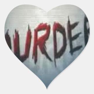 asesinato pegatina en forma de corazón