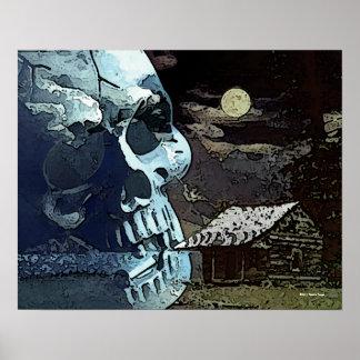 Asesinato por el poster gótico del claro de luna