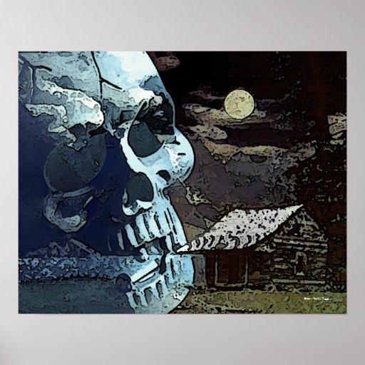 Asesinato por el poster gótico del claro de luna póster