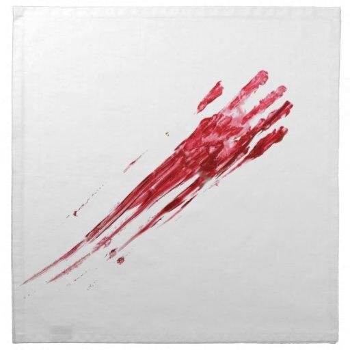 Asesinato sangriento servilleta de papel