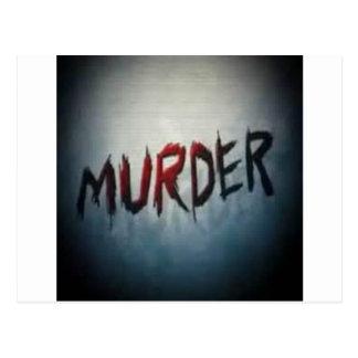 asesinato tarjetas postales