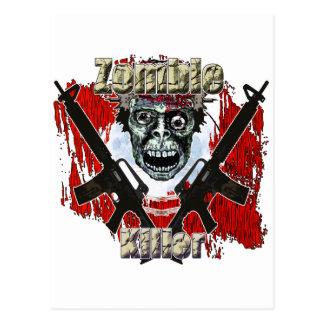 Asesino 4 del zombi postales
