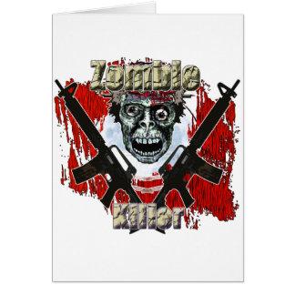 Asesino 4 del zombi tarjetón