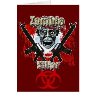 Asesino 4 del zombi felicitaciones