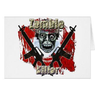 Asesino 4 del zombi tarjeta de felicitación