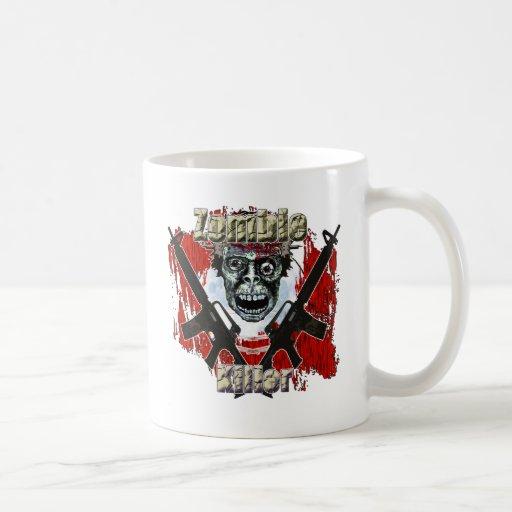 Asesino 4 del zombi taza básica blanca