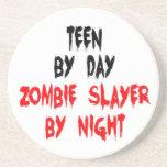 Asesino adolescente del zombi posavaso para bebida