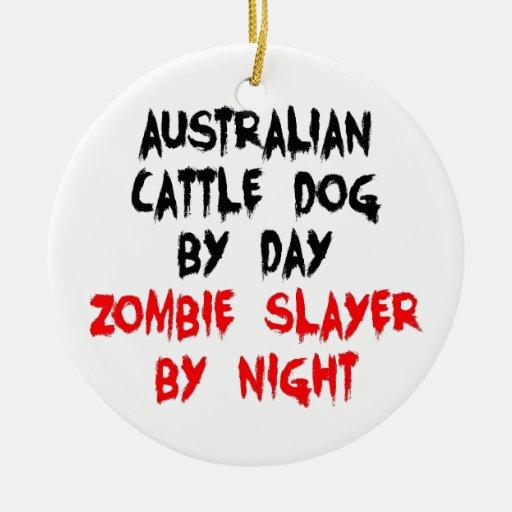 Asesino australiano del zombi del perro del ganado ornamento para reyes magos