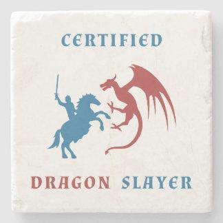 Asesino certificado del dragón posavasos de piedra