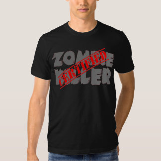 Asesino certificado del zombi playera