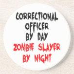 Asesino correccional del zombi del oficial posavasos manualidades