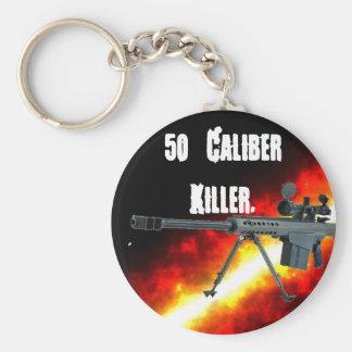 Asesino de 50 calibres llavero redondo tipo pin