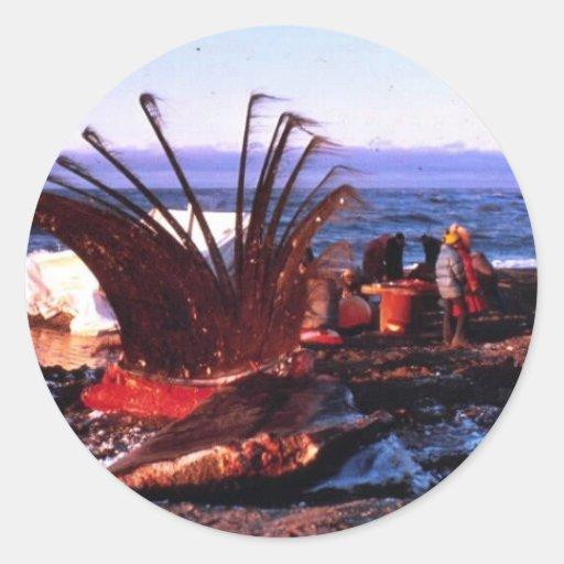 Asesino de la ballena etiquetas redondas