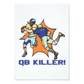 """Asesino de QB Invitación 5"""" X 7"""""""