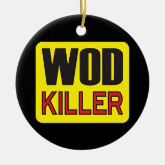 Asesino de WOD - levantamiento de pesas del Adorno Redondo De Cerámica