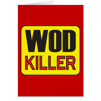 Asesino de WOD - levantamiento de pesas del Tarjeta De Felicitación