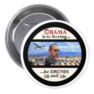 Asesino del abejón de Anti-Obama Pin Redondo 7 Cm