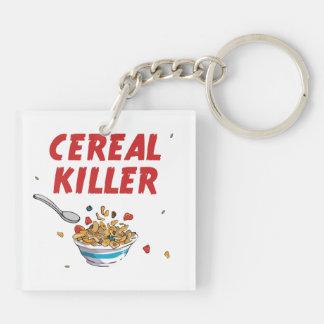 Asesino del cereal de desayuno llavero cuadrado acrílico a doble cara