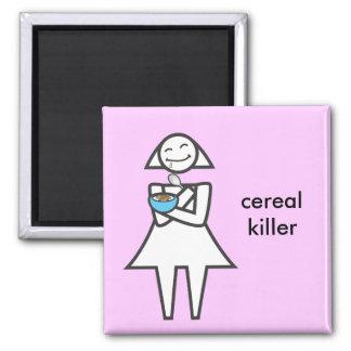 Asesino del cereal iman para frigorífico