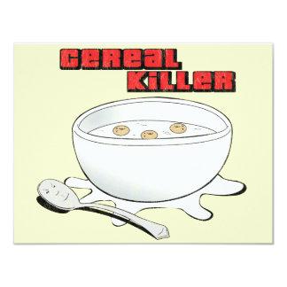 """asesino del cereal invitación 4.25"""" x 5.5"""""""