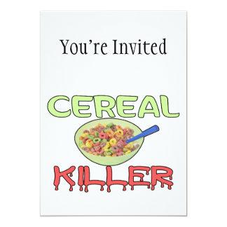 """Asesino del cereal invitación 5"""" x 7"""""""