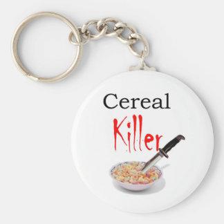 Asesino del cereal llavero redondo tipo pin