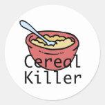 Asesino del cereal pegatina redonda