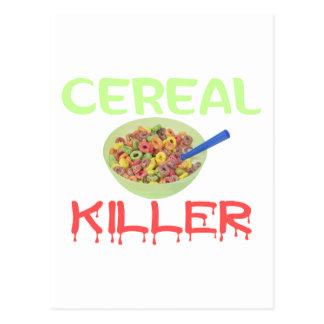Asesino del cereal tarjeta postal