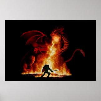 Asesino del dragón de Bordox Posters