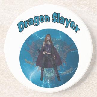 Asesino del dragón posavasos personalizados