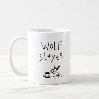 Asesino del lobo taza básica blanca