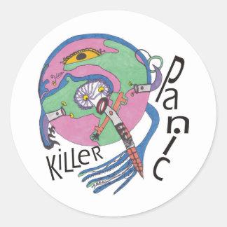 Asesino del pánico pegatina redonda