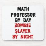 Asesino del profesor de matemáticas zombi alfombrilla de ratones