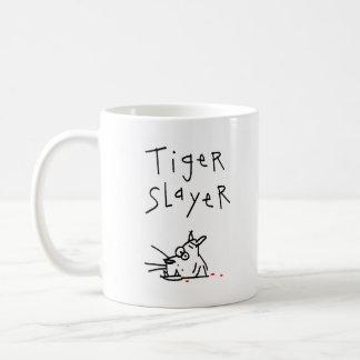 Asesino del tigre taza básica blanca