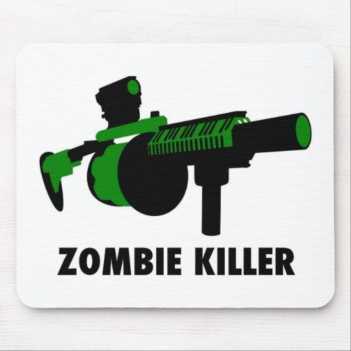 Asesino del zombi alfombrilla de ratón