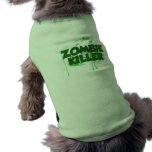 Asesino del zombi camisa de perro
