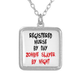 Asesino del zombi de la enfermera registradoa collares