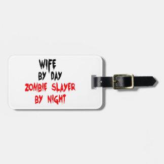 Asesino del zombi de la esposa etiquetas maletas