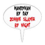 Asesino del zombi de la manitas decoración para tarta